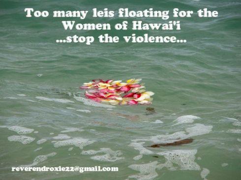 Hawaiian Woman Lei Floating Violence Meme
