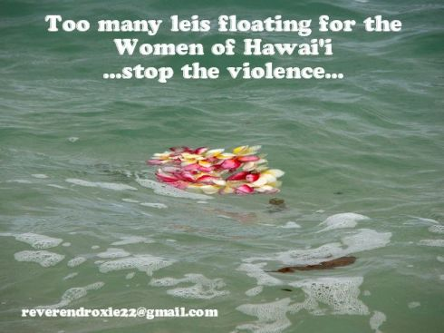 Hawaiian Woman Lei Floating Violence Meme