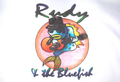 Rudy and the bluefish logo