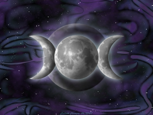 triple goddess blue and purple